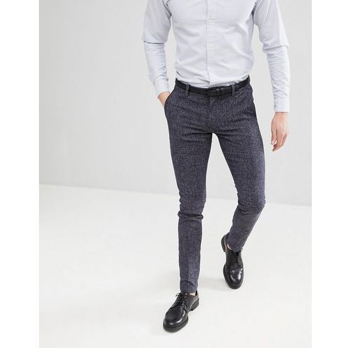 smart trouser in skinny fit flecked fabric - navy marki Selected homme