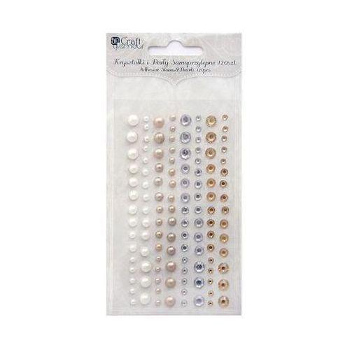 Kryształki i perły samoprzylepne Dalprint GRKP-005/120szt. - 4 kolory