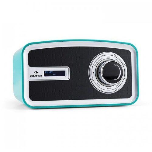 Auna Sheffield blue retro radio cyfrowe dab+ fm zasilanie z baterii turkusowe