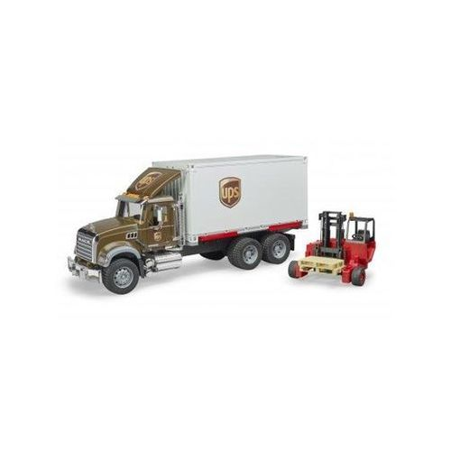 Bruder MACK Granite UPS logistics truck with forklift (4001702028282)
