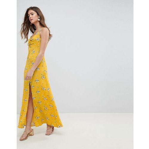 poppy maxi dress - yellow, Brave soul, 38-40