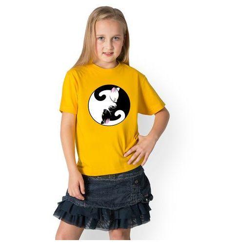 Koszulka dziecięca Yin Yang Kotki, kolor żółty
