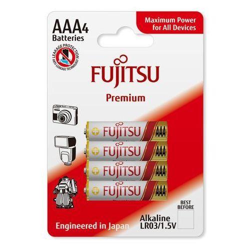 Fujitsu 4 x bateria alkaliczna premium lr03 aaa blister