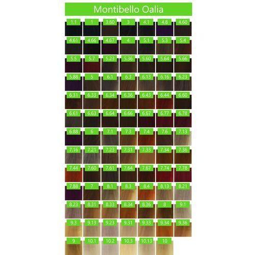 Montibello Oalia zestaw do farbowania BEZ AMONIAKU farba 60ml + oxydant 90ml 1 czarny OALIA 11 VOL 3,3%, kolor czerń