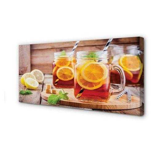Obrazy na płótnie Herbata na zimno słomki cytrus