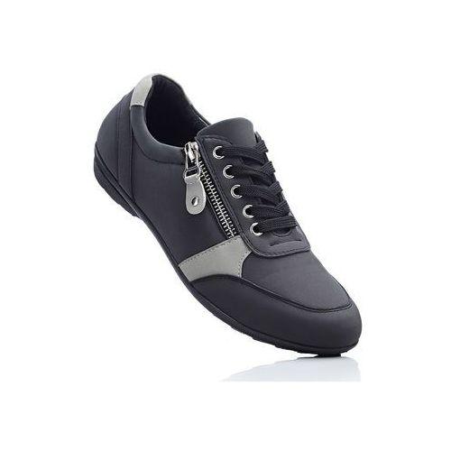 21e85ca5 Wygodne buty sznurowane z pianką YouFoam bonprix czarno-szary, kolor  wielokolorowy