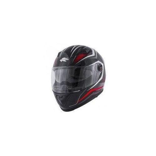 Kappa kask kv27 denver integralny z blendą kolor czarny matt / czerwony