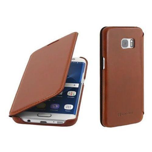 Stilgut Book Brązowe | Etui z klapką typu książka dla modelu Samsung Galaxy S7 Edge - Brązowy