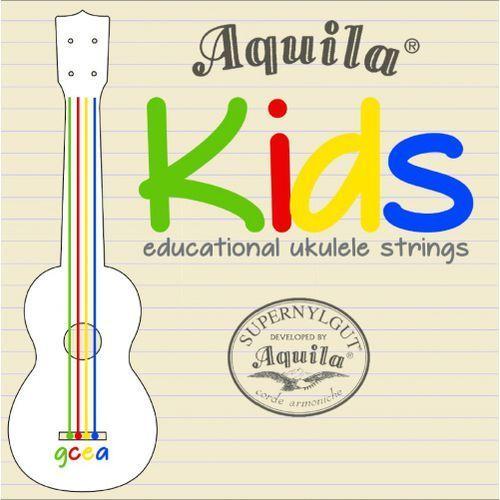 kids kolorowe struny do ukulele marki Aquila