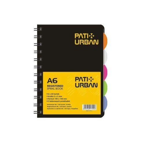 Kołozeszyt Patio Urban 13857 A6/120k. kratka