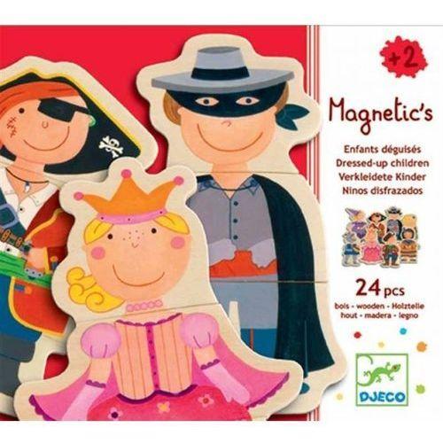 Djeco Puzzle drewniane magnetyczne postacie