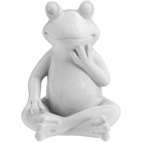 Ozdoba ogrodowa biała żaba - wys. 20 cm marki Progarden