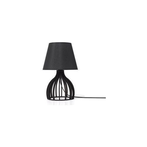 Beliani Lampa stołowa czarna agueda