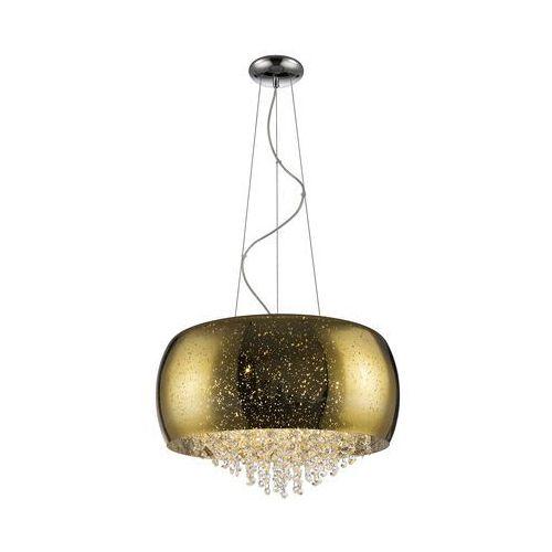 LAMPA wisząca VISTA P0076-06K-F4GR Zumaline szklana OPRAWA glamour ZWIS z kryształkami kropki chrom, kolor Srebrny