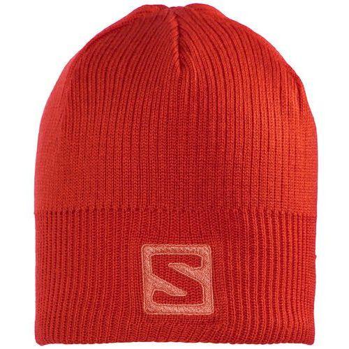 Salomon Logo Nakrycie głowy czerwony One size 2016 Czapki