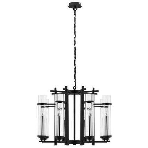 Lampa wisząca zwis Eglo Lindale 8x40W E14 czarna 33103 (9002759331030)
