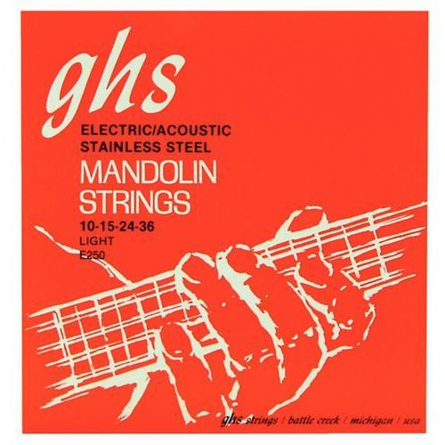 professional struny do mandoliny, loop end, stainless steel, light,.010-.036 marki Ghs