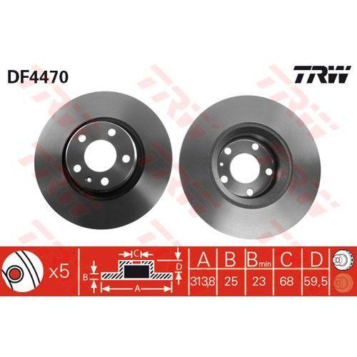 TARCZA HAM TRW DF4470 AUDI A6 2.0TDI, 2.0TFSI, 2.4 QUATTRO 05-, 2.7TDI 04- (3322937473380)