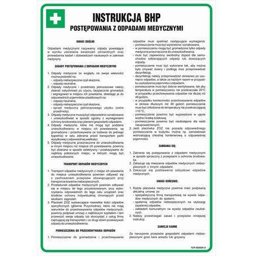 Instrukcja BHP postępowania z odpadami medycznymi. Najniższe ceny, najlepsze promocje w sklepach, opinie.