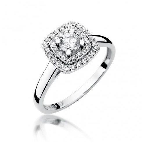 Saxo Biżuteria 14k pierścionek z brylantami 0,50ct w-345 białe złoto