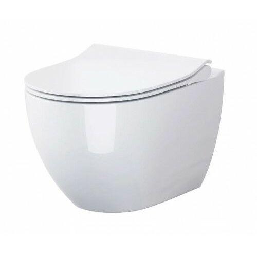 CERSANIT miska wc wisząca Zen Clean On + deska Slim duroplast wolnoopadająca S701-428