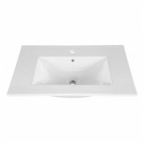 Ceramiczna umywalka meblowa rutica 80 cm - biała marki Producent: elior
