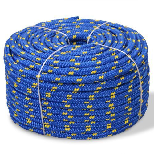 vidaXL Linka żeglarska z polipropylenu, 6 mm, 100 m, niebieska (8718475559405)