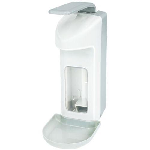 Dozownik płynu dezynfekującego do rąk i mydła z tacką 0,5l Dozownik na mydło łokciowy, Dozownik łokciowy, med 500