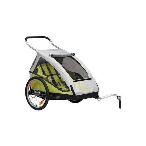 duo przyczepka rowerowa żółty/szary 2018 przyczepki dla dzieci marki Xlc