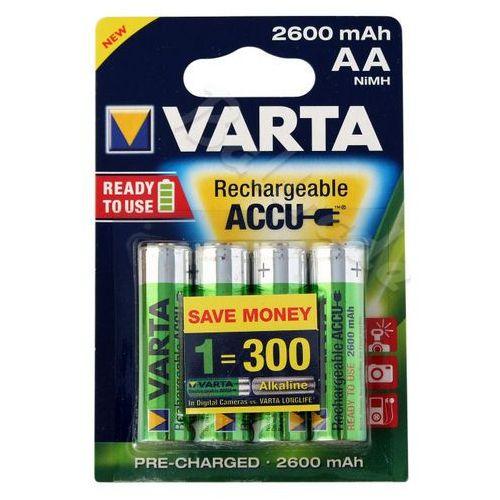 4 x akumulatorki Varta Pro R2U R6 AA 2600mAh, kup u jednego z partnerów