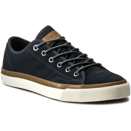 Sneakersy PEPE JEANS - Premiere Suede PMS30290 Marine 585 - produkt z kategorii- Półbuty męskie