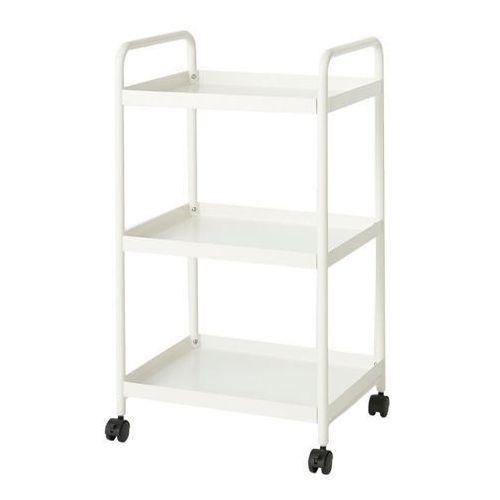 Goodhome Wózek saranda 45 x 36 x 80 cm biały