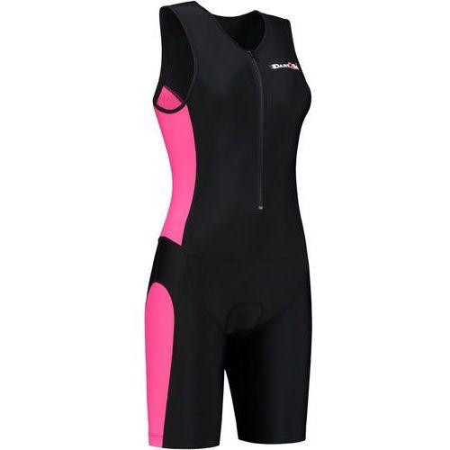 Dare2Tri Frontzip Trisuit Kobiety różowy/czarny L 2018 Pianki do pływania