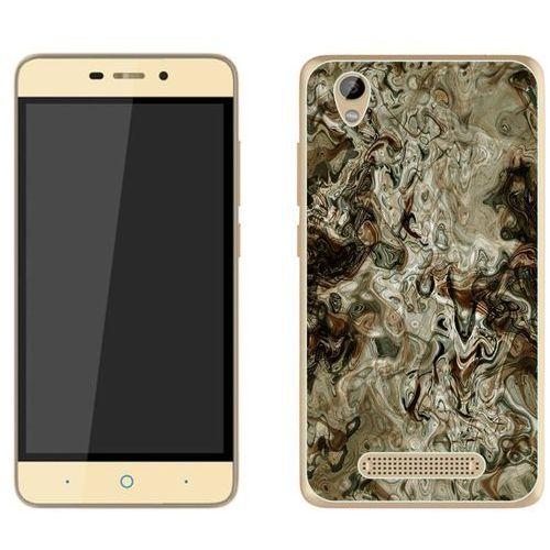 ZTE Blade A452 - etui na telefon - Kolekcja marmur - marble brąz - H21, kolor brązowy