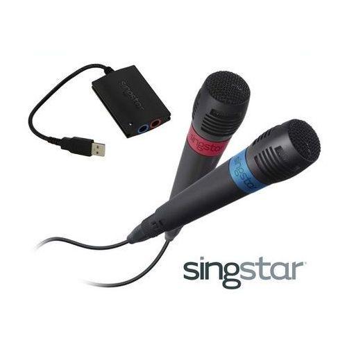 MIKROFONY SINGSTAR SONY+ADAPTER USB PS2/PS3/PS4, EFE9-470ED