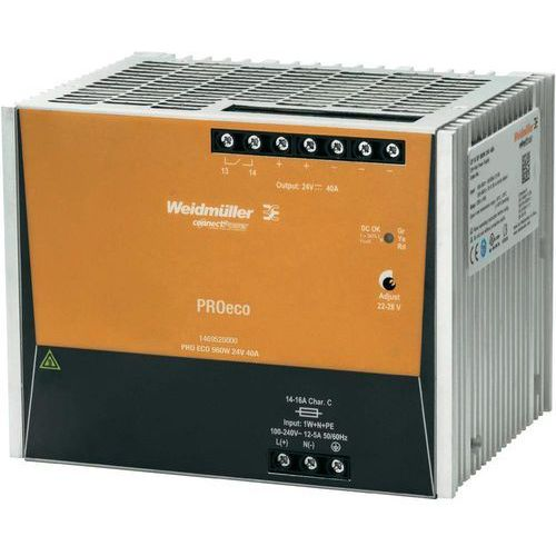 Zasilacz impulsowy 100-240V AC/24V DC 40A 960W PRO ECO 960W 24V 40A 1469520000 WEIDMULLER