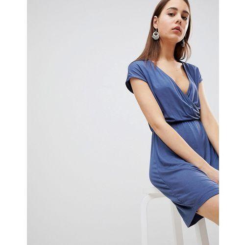 crissy wrap dress - blue marki Brave soul