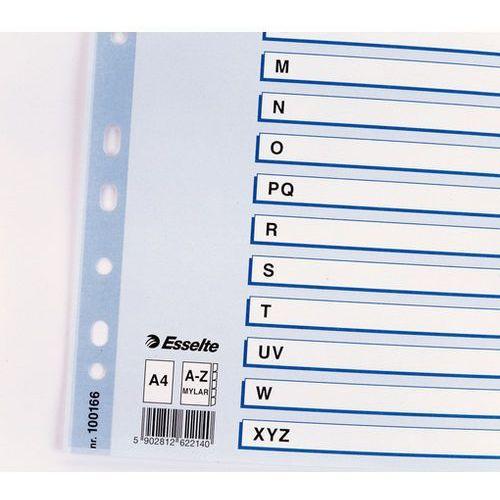Przekładki alfabetyczne mylar a4 kolorowe 100166 marki Esselte