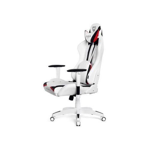 Fotel DIABLO X-Ray L Biało-czarny DARMOWY TRANSPORT (5902560336061)
