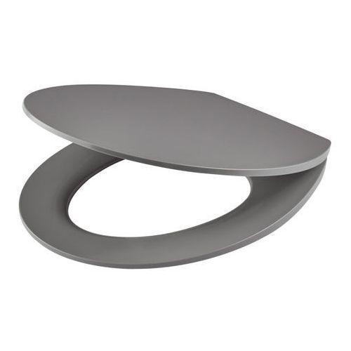 Deska WC Changi z duroplastu wolnoopadająca szara, BU230Q / G