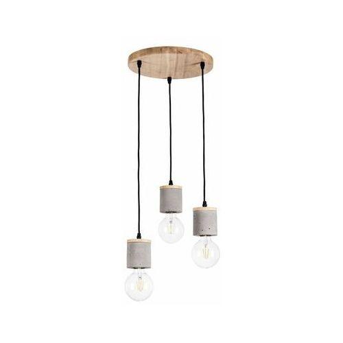 Lampa wisząca Cesar beton z drewnem 3 x E27 Spot-Light