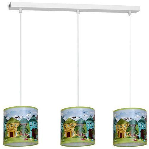 Eko-light 873 lampa wisząca potrójna houses domy