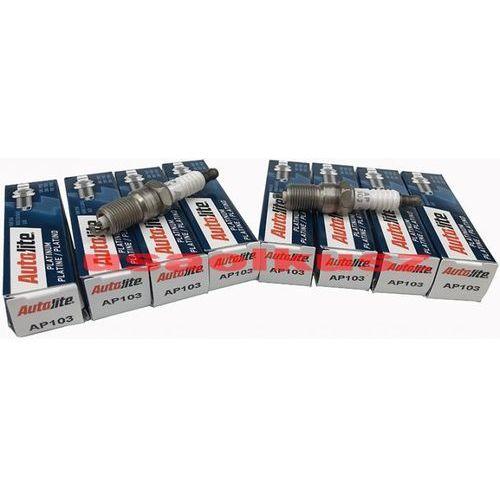 Kpl 8 szt platynowych świec zapłonowych ford mustang 4,6 / 5,4 v8 supercharged marki Autolite