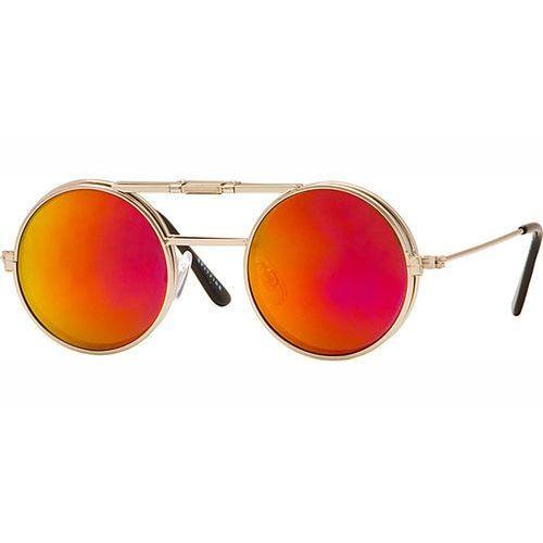 Okulary Słoneczne Spitfire Lennon Flip Silver/Clear/Red Revo Mirror, kolor żółty