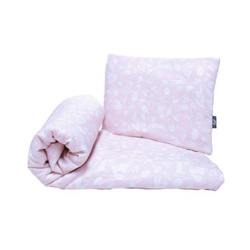 bawełniany komplet pościeli z wypełnieniem zwierzątka różowe kołderka 80x100cm + poduszka 35x45 marki Pulp