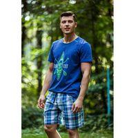 Piżama mns 420 a8 xl, granatowy-kratka, key marki Key