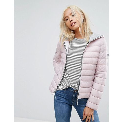 lightweight hooded padded jacket - pink marki Esprit