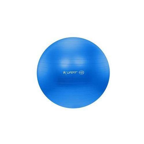 Piłka gimnastyczna anti-burst 55 cm niebieski marki Lifefit