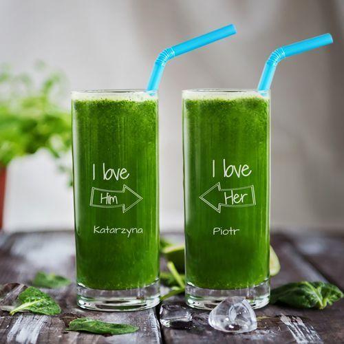 Mygiftdna We love each other - dwie grawerowane szklanki - szklanki