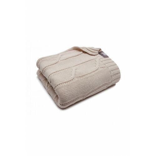 Pulp Kocyk bawełniany beżowy 80x85cm 6o39ak